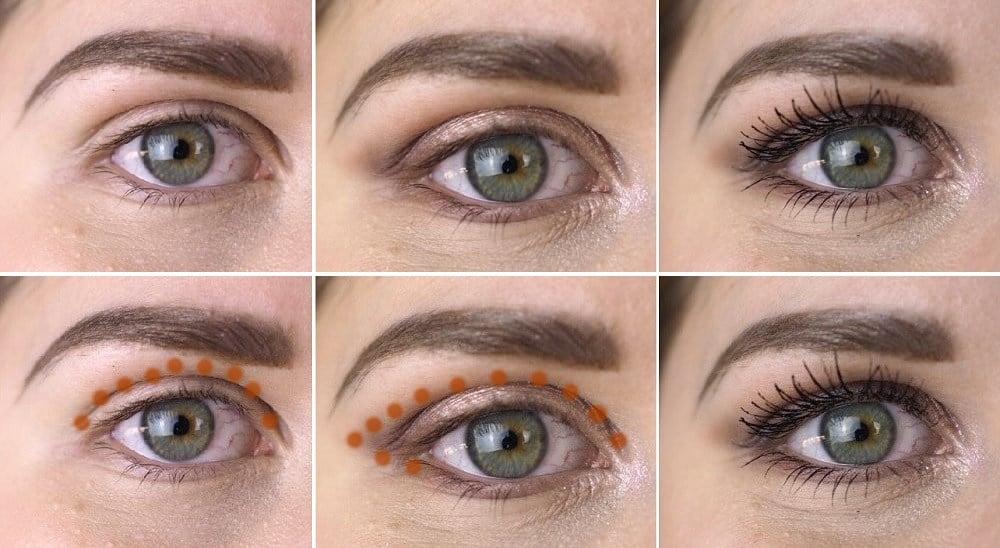 round deep set eyes makeup elongating eye