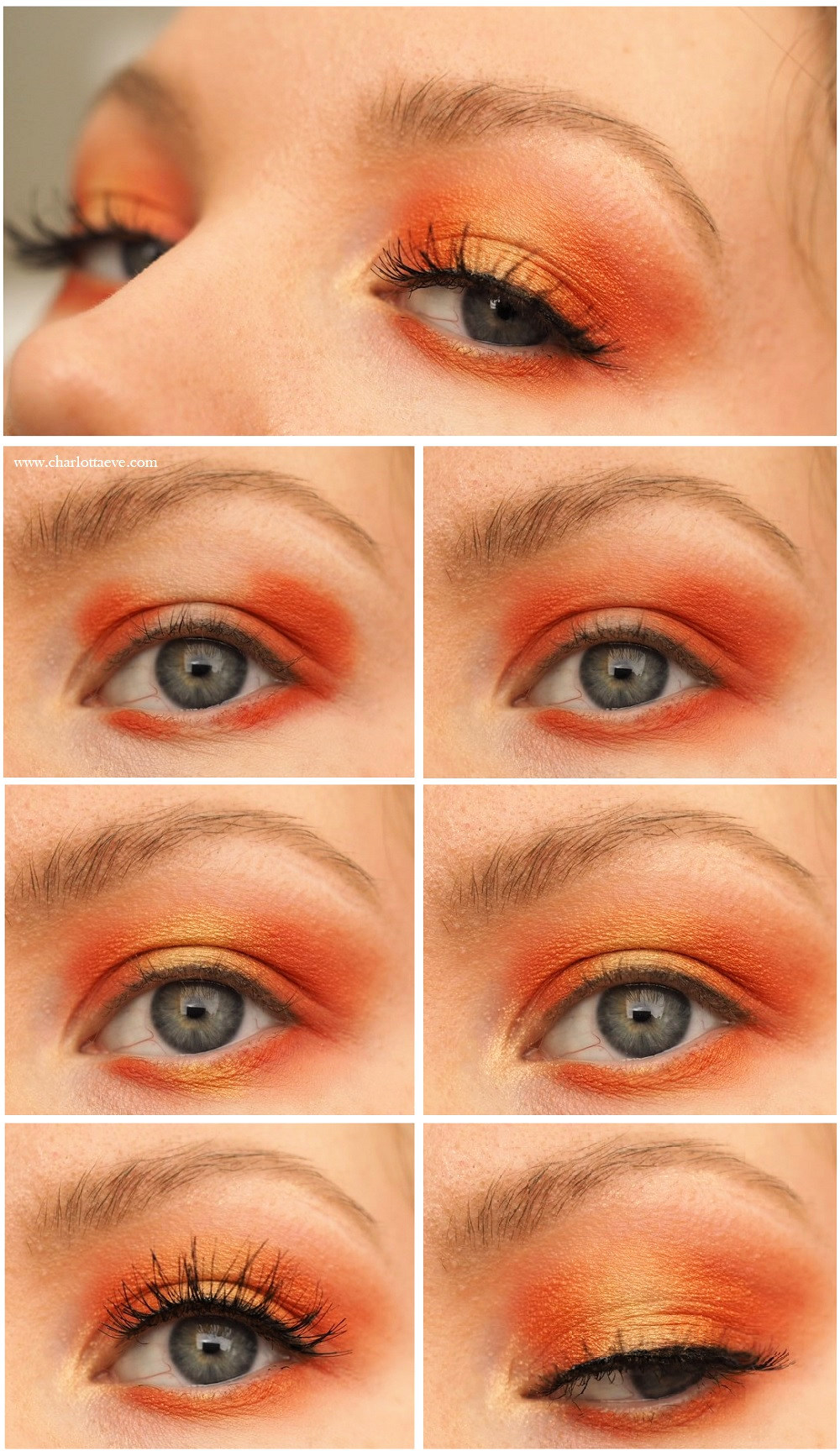 orange spring makeup tutorial