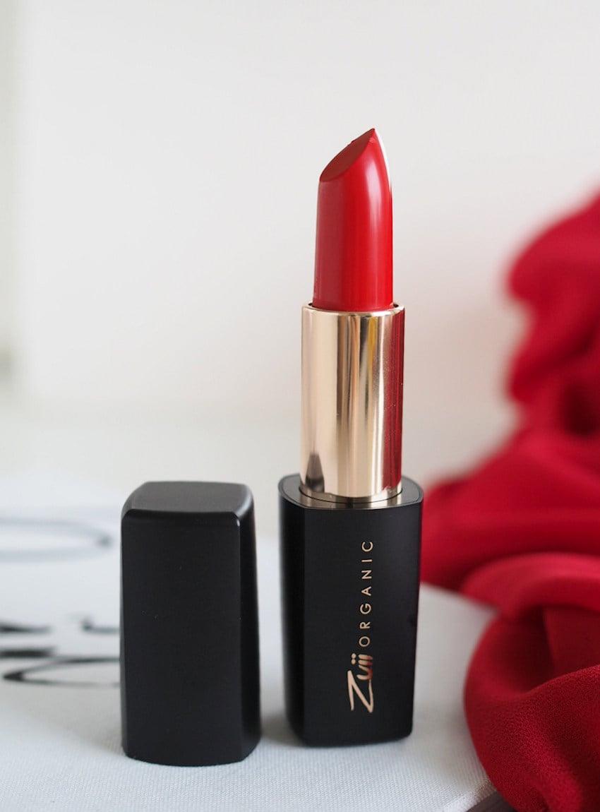 Zuii Organic Lux Coral Red Lipstick
