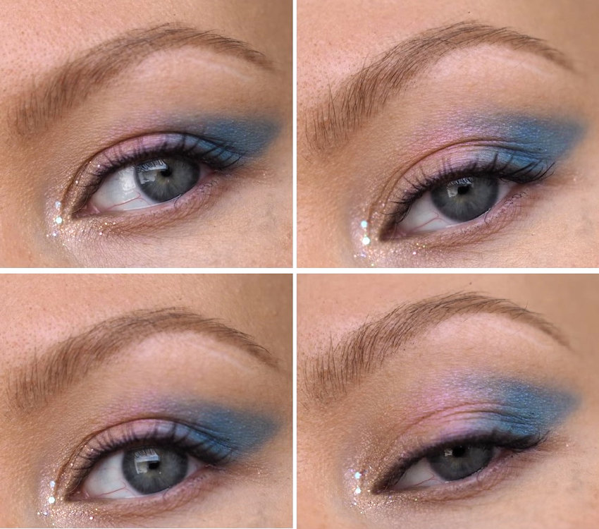 easy blue makeup look