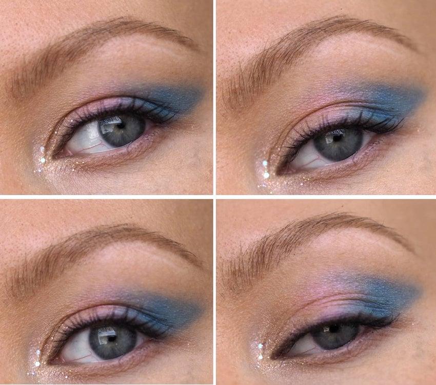 easy blue makeup look