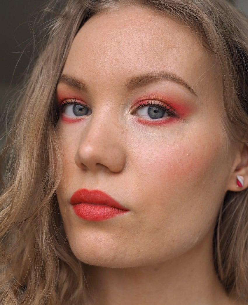 Lipstick 3 ways warm red makeup