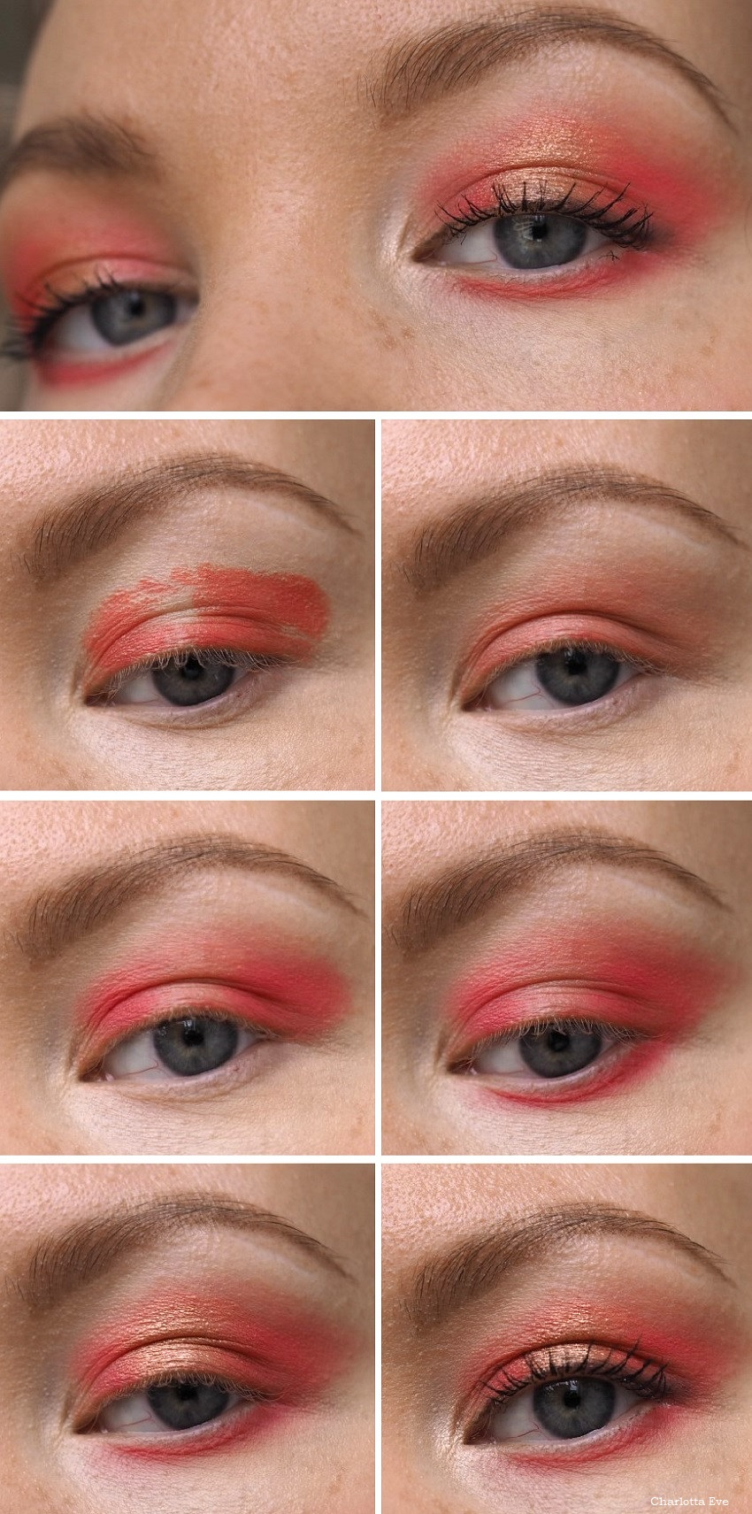 warm red eye makeup tutorial