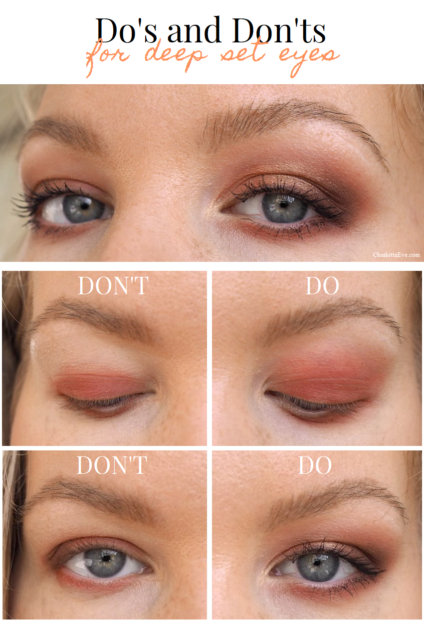 dos and donts for deep set eyes makeup