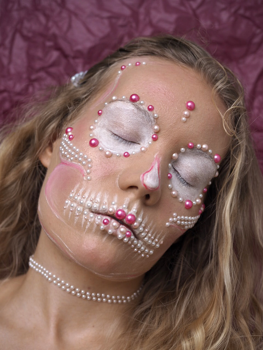 Halloween makeup tutorial - Pearl skull