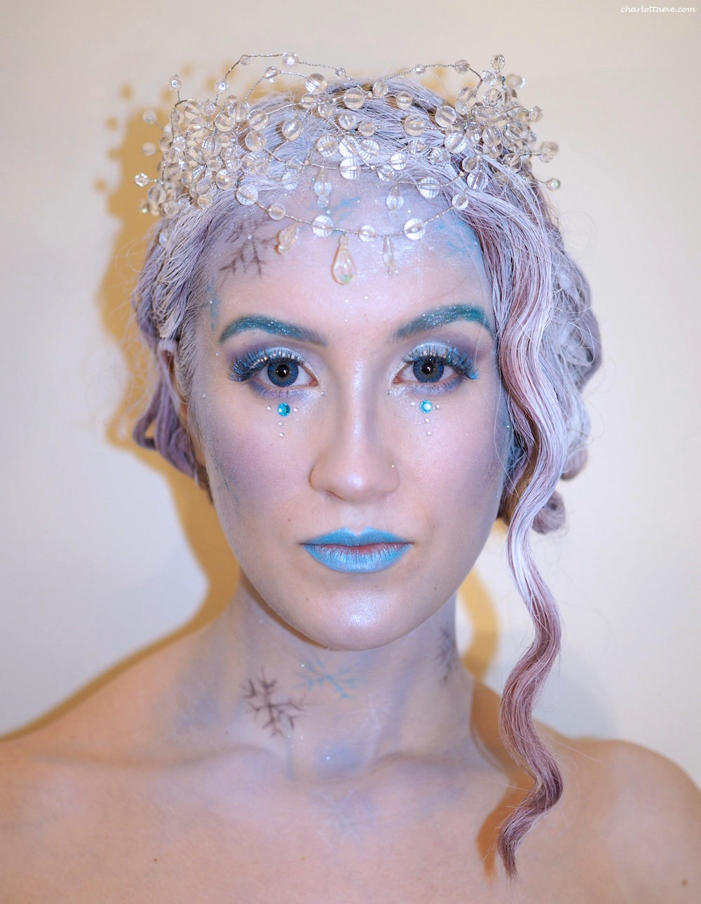 ice queen halloween makeup