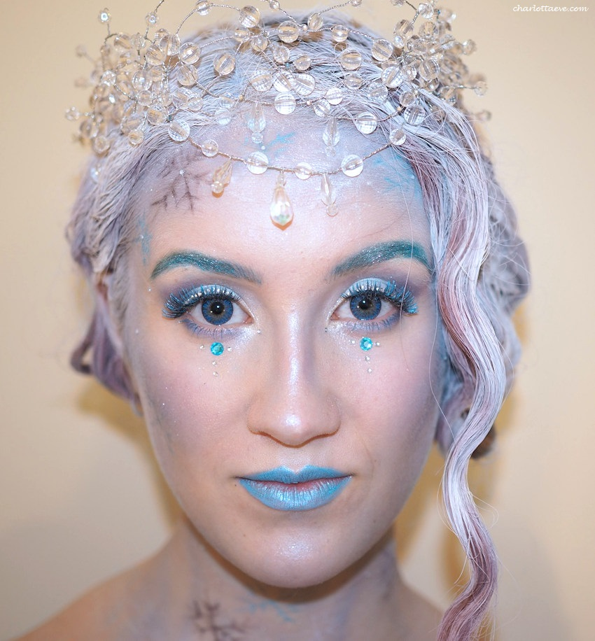 ice queen makeup halloween makeup idea
