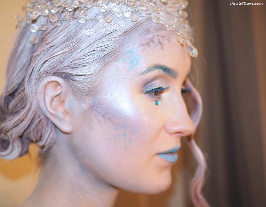 Ice queen makeup how to