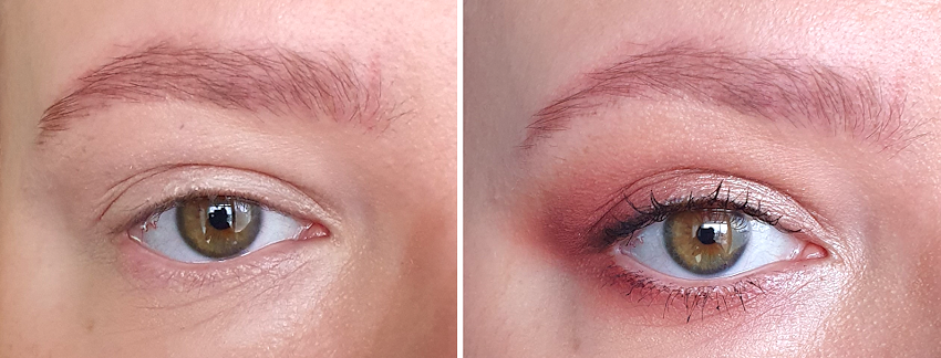 almond eyes makeup before and after