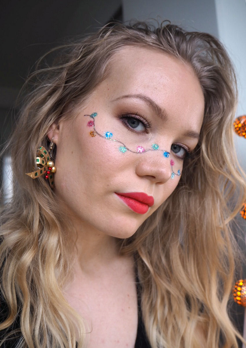 christmas lights makeup tutorial