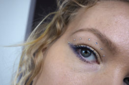 new years eve makeup with diamonds
