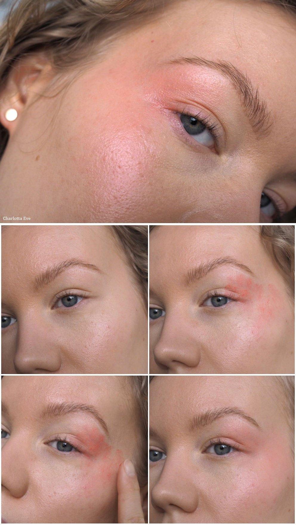 bushed eyes and cheeks makeup tutorial