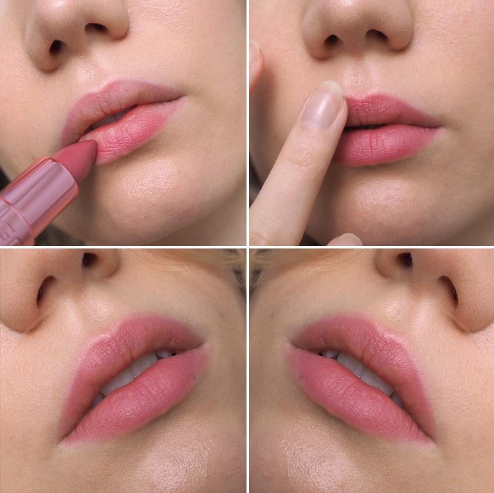 blushed lips gosh romance lipstick