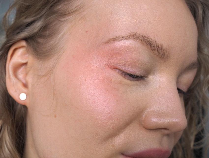 blushed makeup look