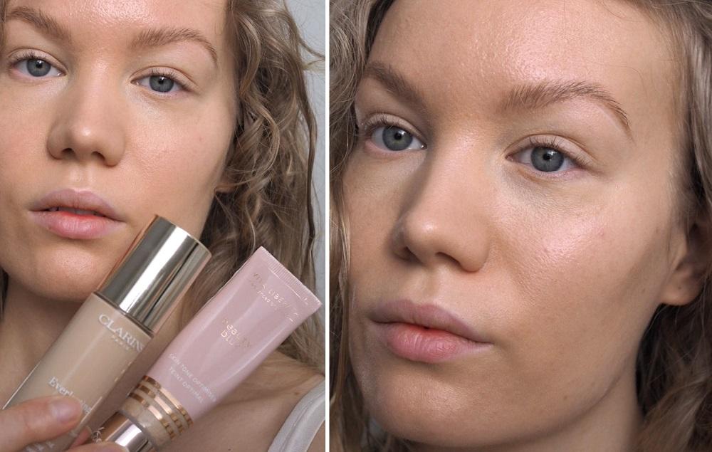 glowy base - vita liberata beauty blur mixed with foundation