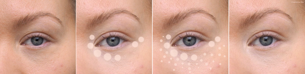 where to apply concealer to highlight under eye area