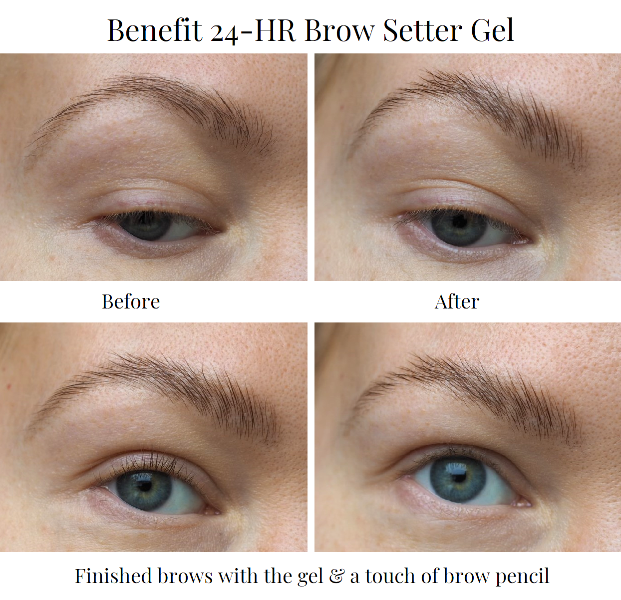 benefit brow setter gel before after
