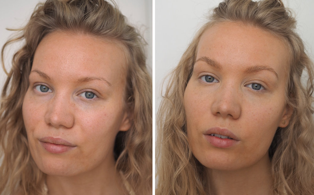 eva garden cc primer and perfector concealer before after
