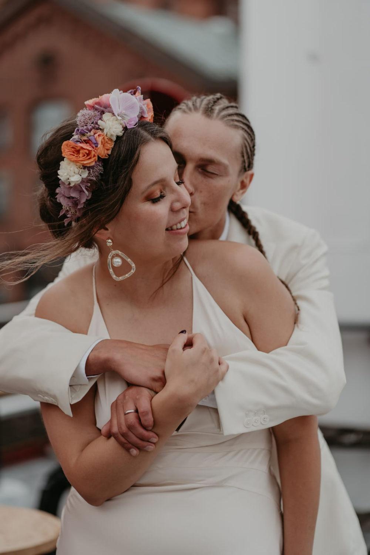 natural boho wedding makeup